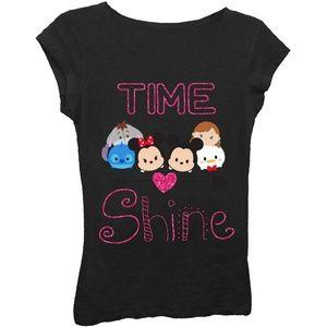 NWT Tsum Tsum Girls T-Shirt Black XS